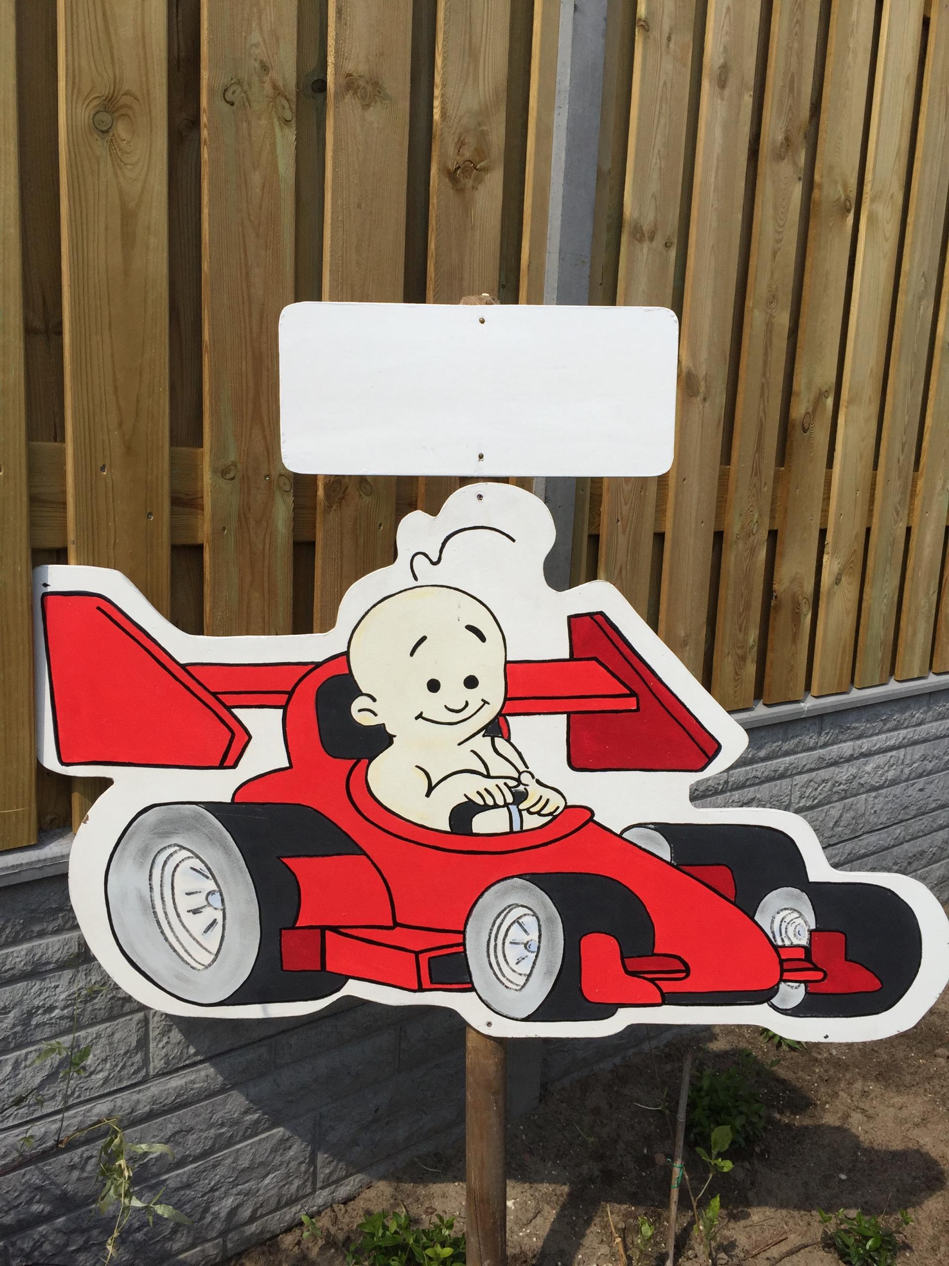 4a Geboortebord RACE AUTO MAX