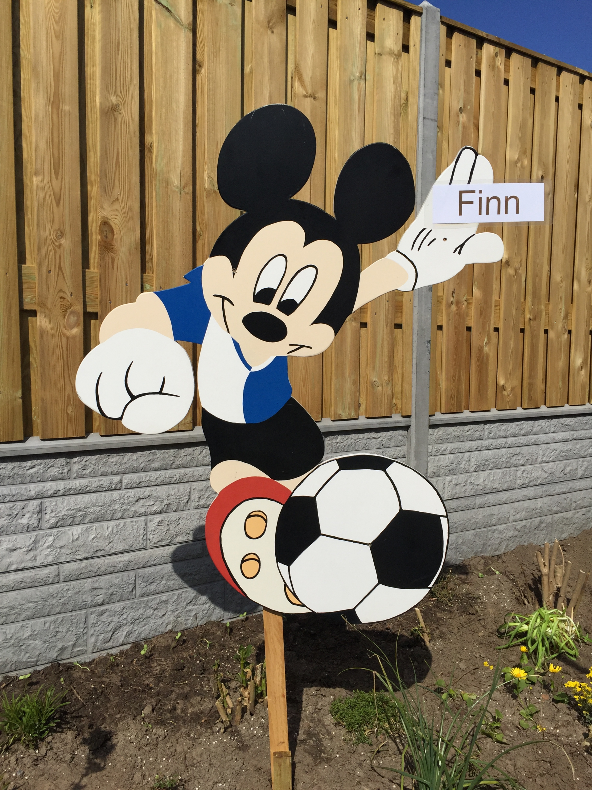 29a Micky Mouse met voetbal